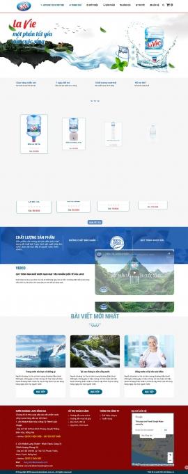 Mẫu website nước uống lavie 13524
