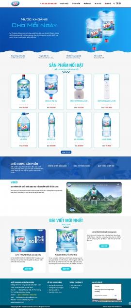 Mẫu website nước uống lavie 13526