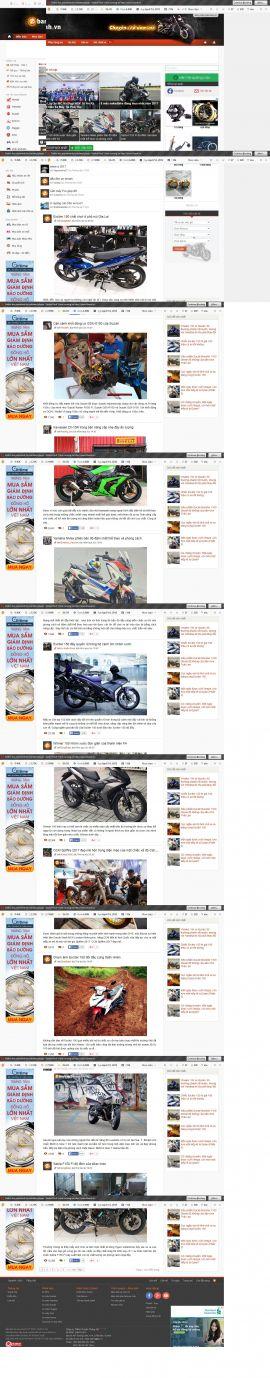 Mẫu website Ôtô - xe máy 10256