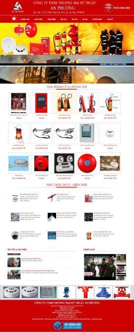 Mẫu website phòng cháy chữa cháy 2345
