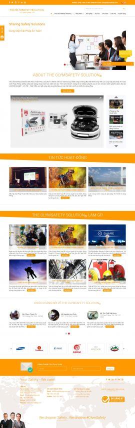Mẫu website phòng cháy chữa cháy 2347