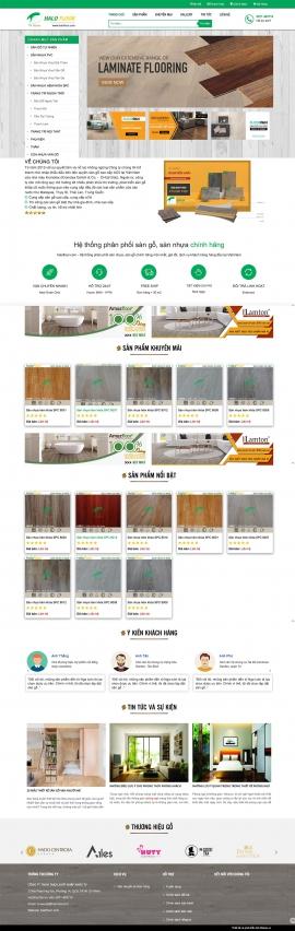 Mẫu website sàn gỗ 13482