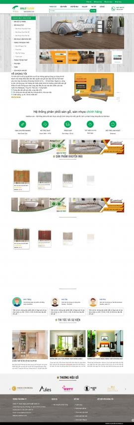 Mẫu website sàn gỗ 13512