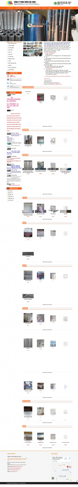 Mẫu website sản phẩm lọc 13503