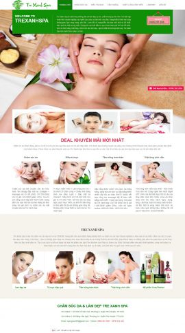 Mẫu website Spa 6463