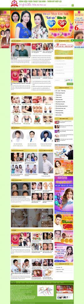 Mẫu website thẫm mỹ viện 12453