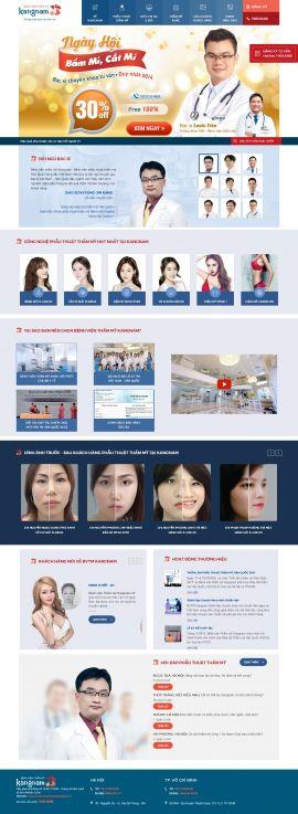 Mẫu website thẫm mỹ viện 6456