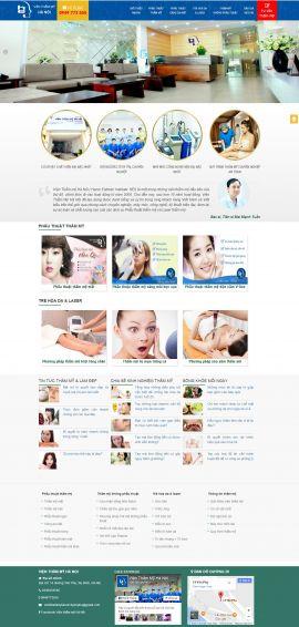 Mẫu website thẫm mỹ viện 6457