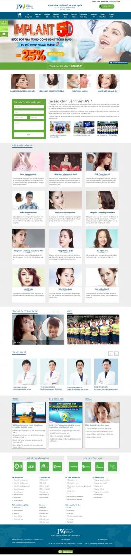 Mẫu website thẫm mỹ viện 6458