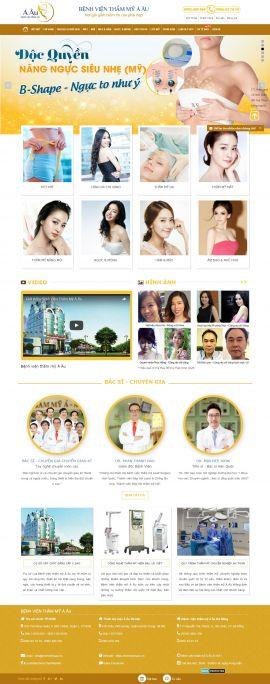 Mẫu website thẫm mỹ viện 6462