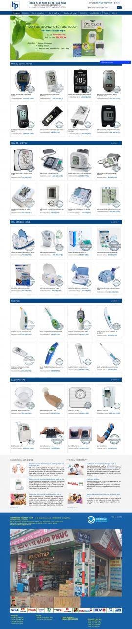Mẫu website thiết bị y tế 10463