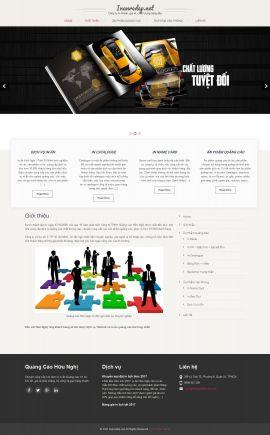 Mẫu website thiết kế in ấn 10129