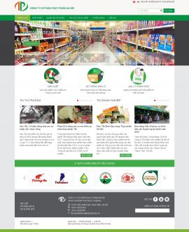 Mẫu website thực phẩm 10297