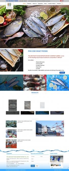 Mẫu website thuỷ hải sản 13505