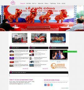 Mẫu website tổ chức sự kiện 10384