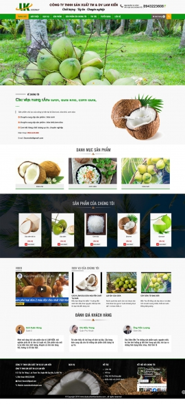 Mẫu website trái cây sạch 13500