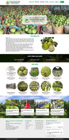 Mẫu website trái cây sạch 13508