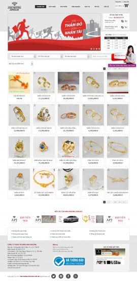 Mẫu website trang sức 10406