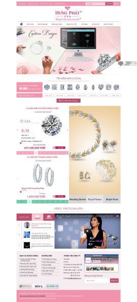 Mẫu website trang sức 10410
