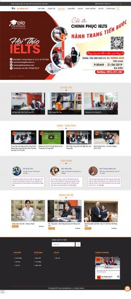Mẫu website trung tâm anh ngữ 13497