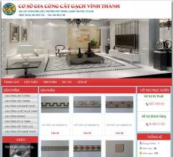 website xây dựng Cơ sở gia công cắt gạch Vĩnh Thành