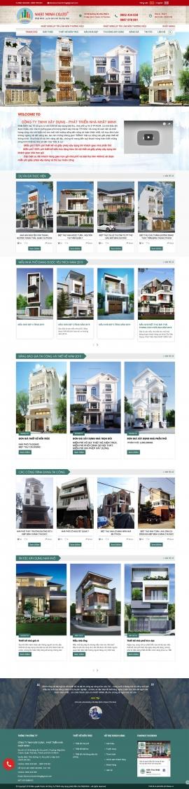 Mẫu website xây dựng,kiến trúc 13504
