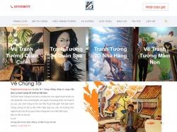 Thiết kế website giải trí thế giới tranh tường