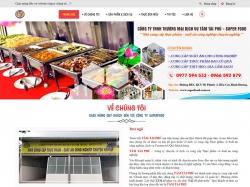 Thiết kế website giới thiệu doanh nghiệp Super Food
