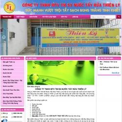 Thiết kế web bán hàngCông ty SX Nước Tẩy Rửa Thiên Lý