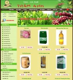 Thiết kế web bán hàngDanh Trà Cà Phê Trâm Anh