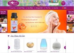website bán hàng Rosa được thiết kế bởi web số