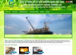 thiết kế web doanh nghiệp xử lí môi trường sạch việt nam được thiết kế bởi web số
