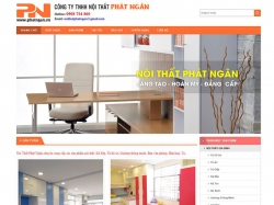 Thiết kế webiste nội thất Phát Ngân