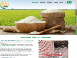 Thiết kế website bán gạo Khánh Hồng