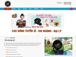 Thiết kế website bán hàng cao gừng