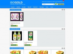 Thiết kế website bán hàng Isogold