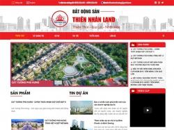 Thiết kế website bất động sản Thiên Nhân Land