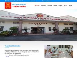 Thiết kế website bệnh viện y tế Thiên Hưng