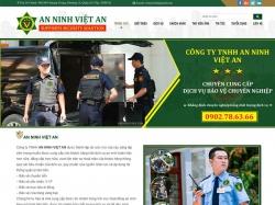 Thiết kế website dịch vụ bảo vệ Việt An