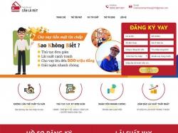 Thiết kế website dịch vụ vay tiêu dùng