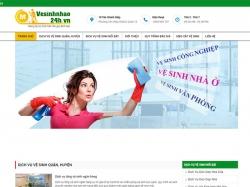 Thiết kế website dịch vụ vệ sinh nhà ở