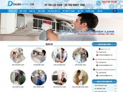 Thiết kế website điện lạnh Gia Thành