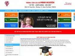 Thiết kế website gia sư Minh Nguyên