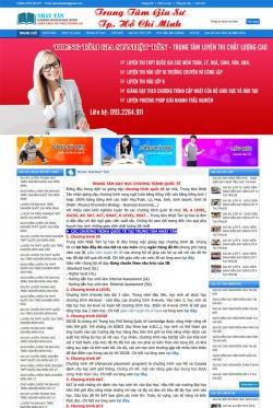 Thiết kế website gia sư Nhật Tân