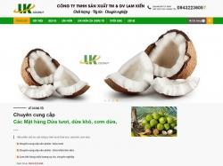 Thiết kế website giới thiệu doanh nghiệp Lam Kiến