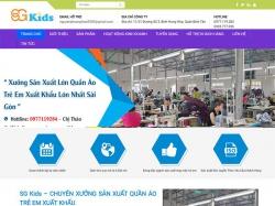 Thiết kế website giới thiệu doanh nghiệp SG KIDS