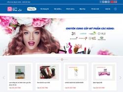 Thiết kế website mỹ phẩm Hoa Lư