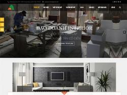 Thiết kế website nội thất Đào Doanh