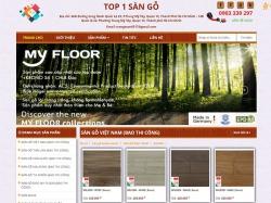Thiết kế website nội thất top 1 sàn gỗ