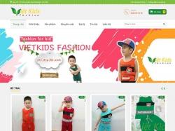 Thiết kế website thời trang Việt Kids
